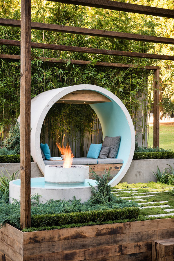 Pipe Dream: Hidden Oasis Garden From Concreate Pipes ... on My Dream Patio id=13833