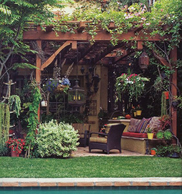 Beautiful Outdoor Kitchen Add A Stove Top And You Could: 20 Beautiful And Natural Grape Arbor Ideas