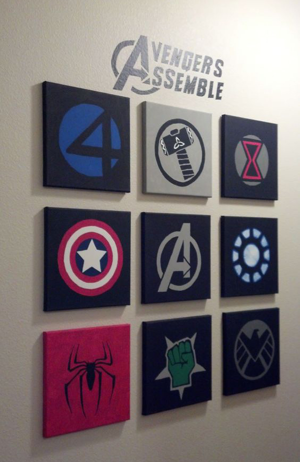 Marvel Wood Wall Decor : Best marvel avengers wall decor ideas home design and