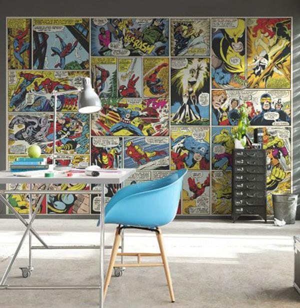 Marvel Wall Mural marvel-comic-heroes-photo-wall-mural