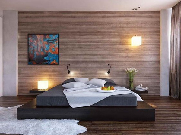 grey-wood-panel-bedroom-walls