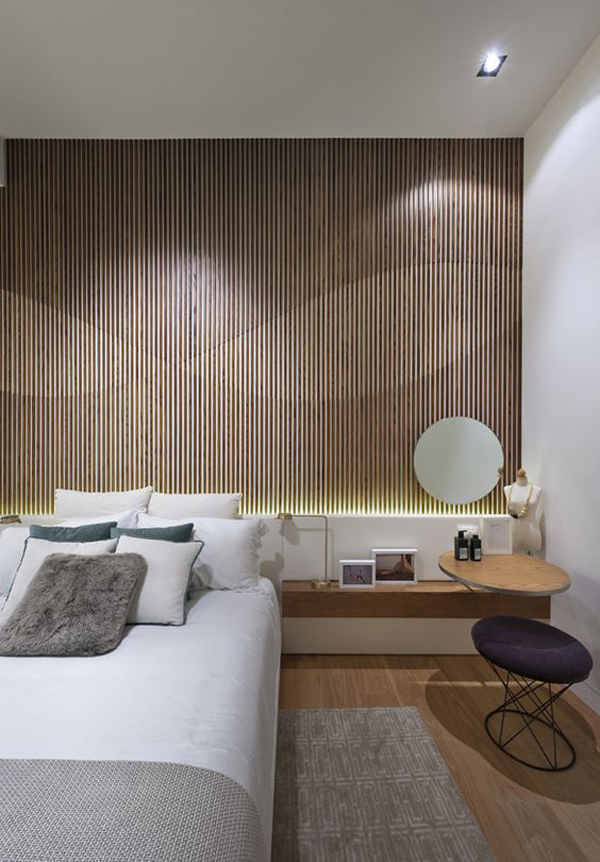 Wood Panel Accent Wall: 20 Modern And Creative Bedroom Design Featuring Wooden