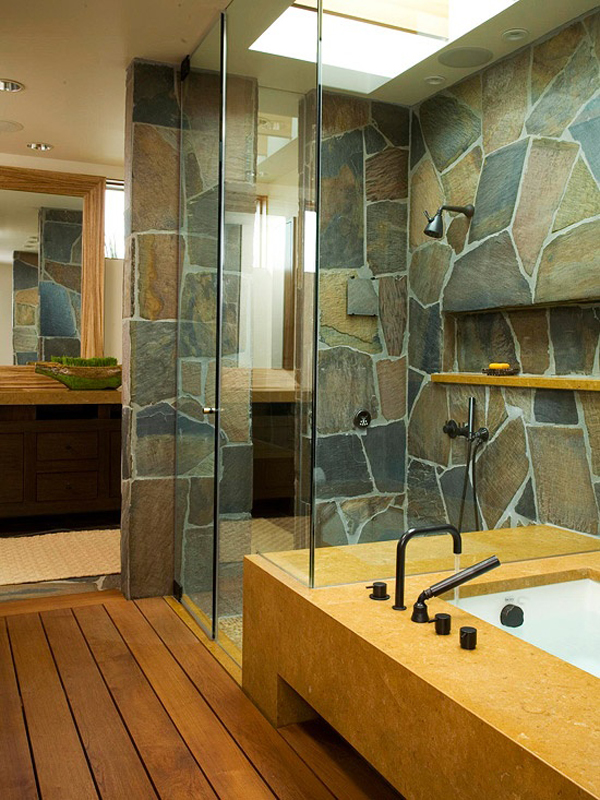 25 Awesome Natural Stone Bathrooms