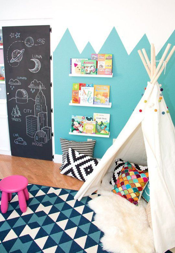 30 education kids playroom with chalkboard ideas home design and interior - Simple kids room painting ideas ...