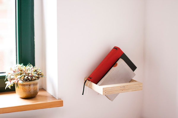 Plywood Shelf Is Designed For Those Who Want To Experience New Touch With A Floating Effect The First Thing You Can Use As Bookshelf Your Favorite