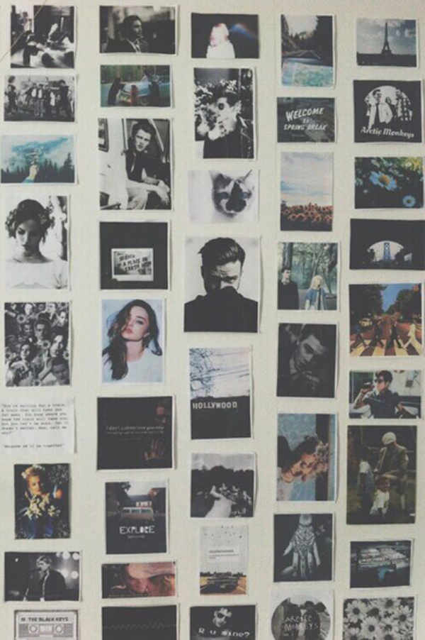 Polaroid Grunge Bedroom Wall Homemydesign