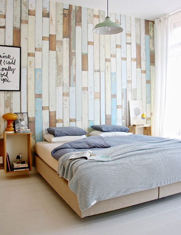 Rustic wood bedroom wall decoration for My home decoration