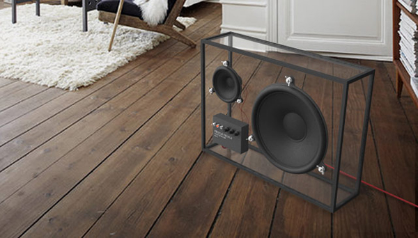 beautiful transparent speaker with sustainable designs | home