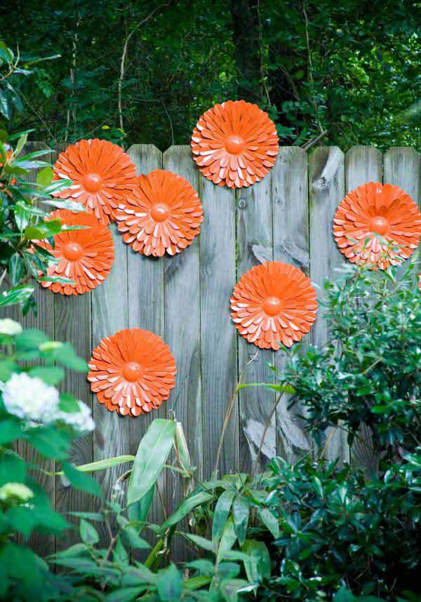 diy flower garden fence ideas