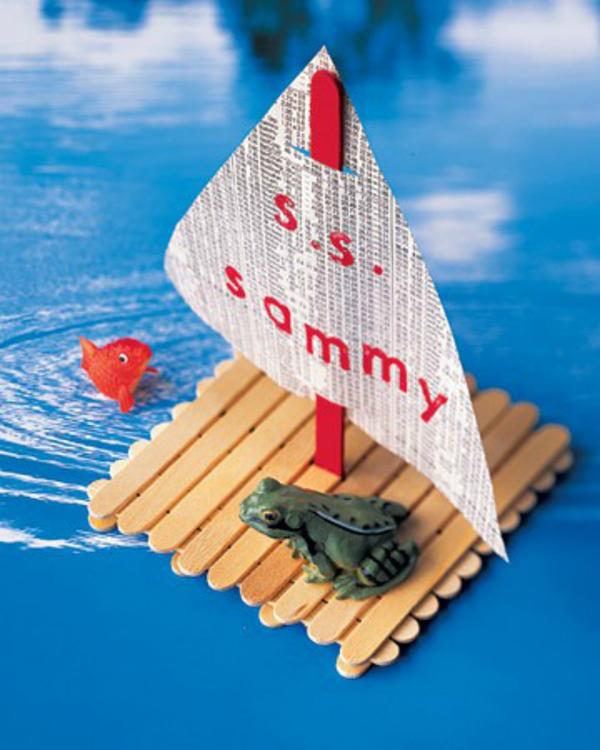 DIY Popsicle Stick Boat For Kids Crafts