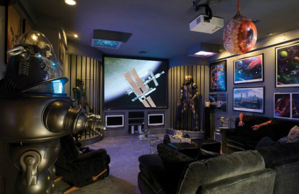 25 incredible video gaming room designs home design and for Cool gamer bedroom ideas