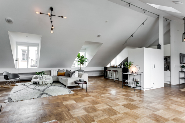 Exclusive Attic Apartment Design In Stockholm Home