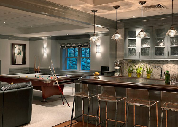 Basement bar with game room - Home bar room ideas ...