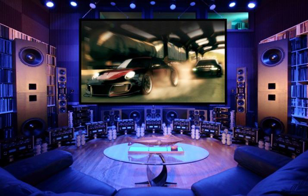 Big Surround Video Game Room Designs