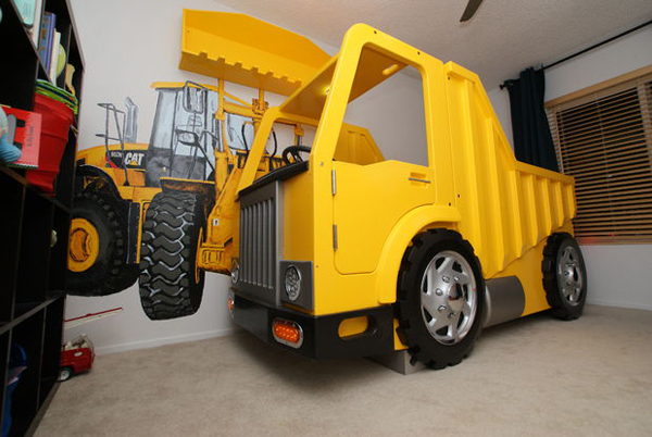 Dump Truck Toddler Bed : Creative and delightful vehicle beds for kids dreams