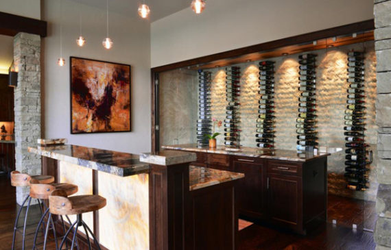 cool-basement-bar-with-wine-storage