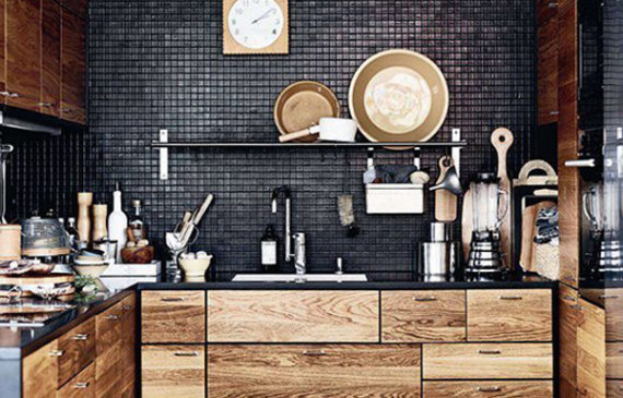 cool-black-kitchens-for-bachelor-pad