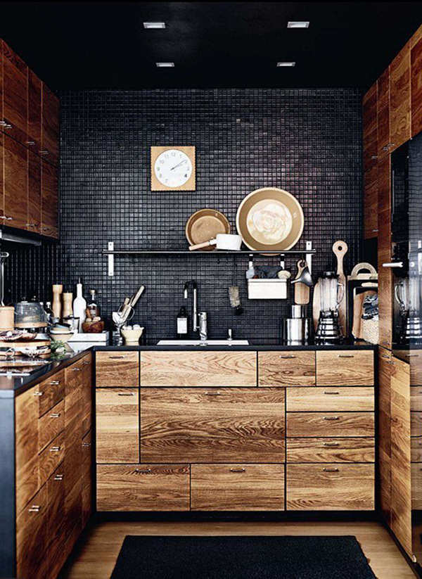 10 Cool Black Kitchens For Bachelor\'s Pad | Home Design And Interior