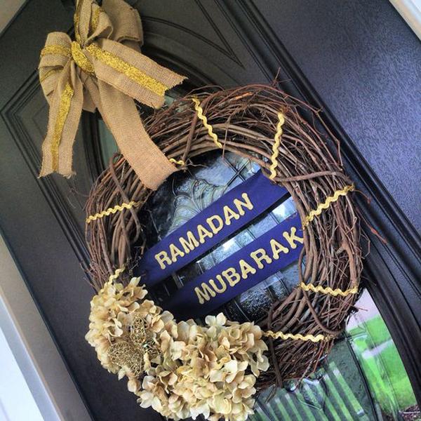 20 Wonderful Eid Mubarak Ideas: 20 Awesome Wreath Doors For Eid And Ramadan