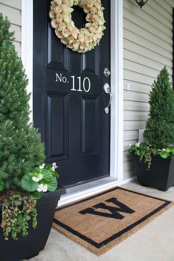 20 Modern And Creative DIY House Number Projects Home Design And