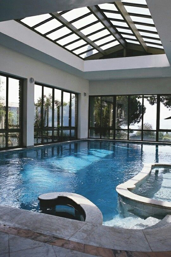 Indoor swimming pool with sunroom ideas - Inside swimming pool ...