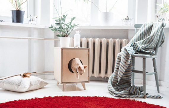 Beautiful Cat Litter Box With Scandinavian Style
