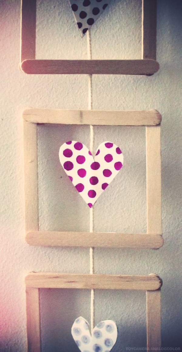 25 pretty diy popsicle stick for home decor home design for Home decor wall hanging