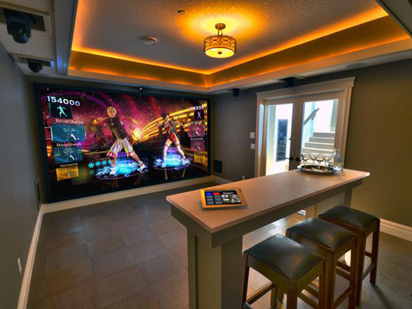 25 incredible video gaming room designs home design and for Home design ideas game