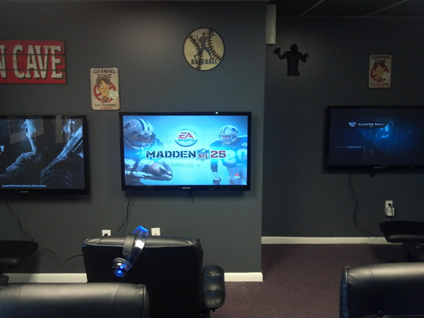 Man Cave With Video Game Room