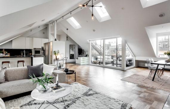 mid-century-attic-apartment-ideas