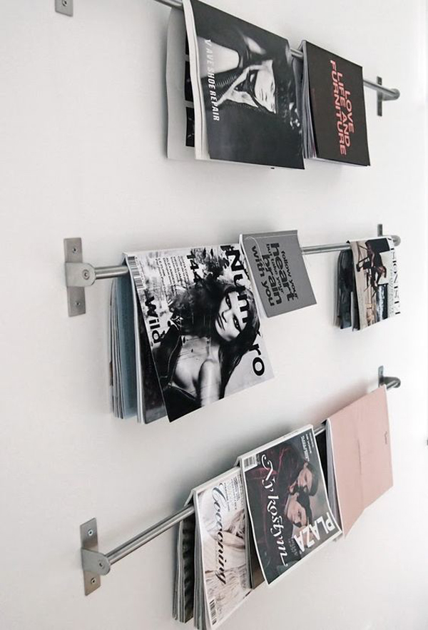 gallery of 15 genius diy magazine rack ideas