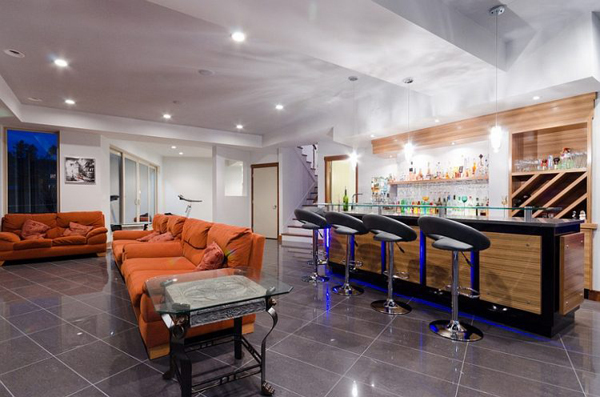 Man Cave Ideas For Bar : Luxury nascar man cave suite video diy