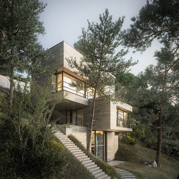 Modern house design in nature home design and interior for Architecture nature