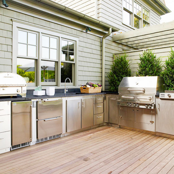 Modern large kitchen deck for Awesome warehouse kitchen design