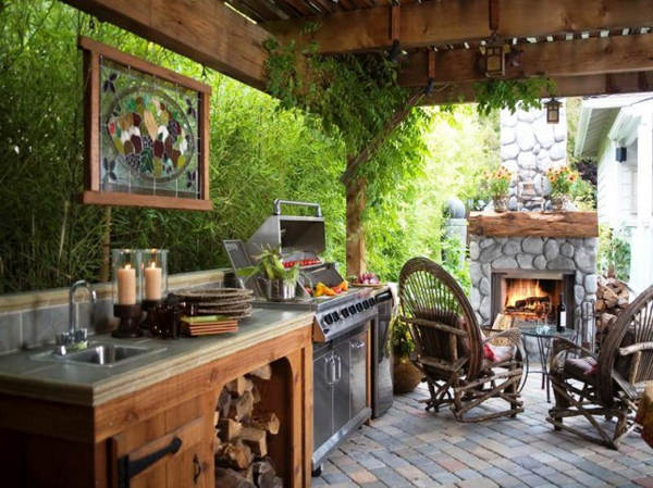 35 most awesome outdoor kitchens for summer home design for Outdoor summer kitchen