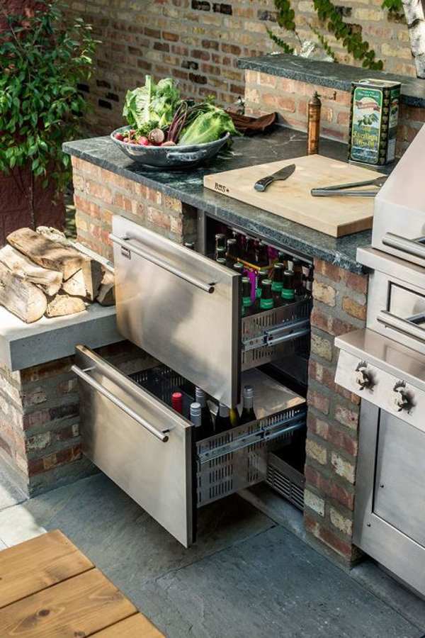 Naturekast Outdoor Summer Kitchen Cabinet Gallery: Outdoor-refrigerated-kitchen-drawers