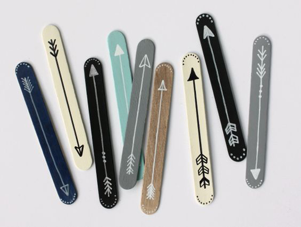 Pretty popsicle stick bookmarks for Cool things made out of popsicle sticks