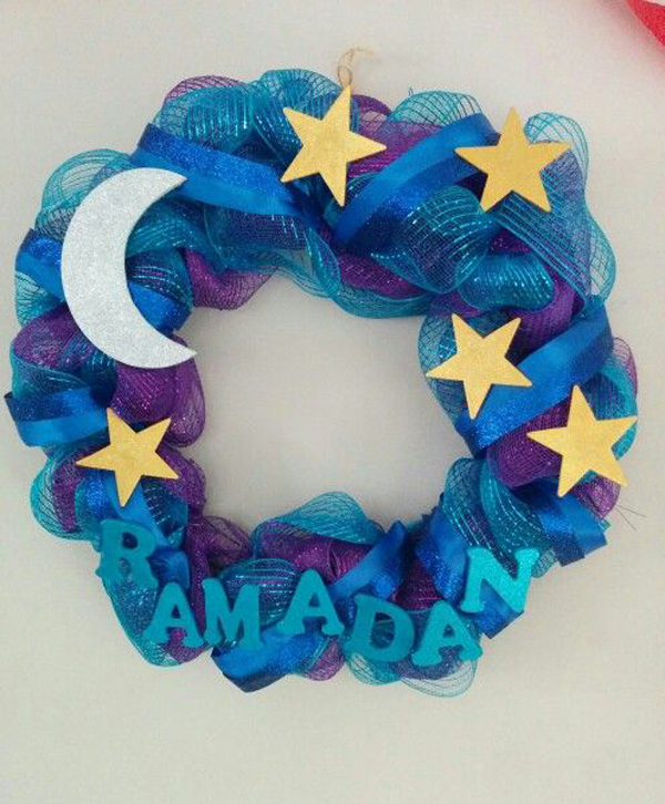 Ramadan Deco Mesh And Ribbon Wreath Home Design And Interior