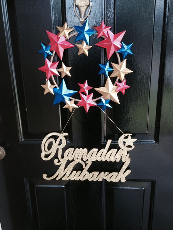 20 Awesome Wreath Doors For Eid And Ramadan Home Design