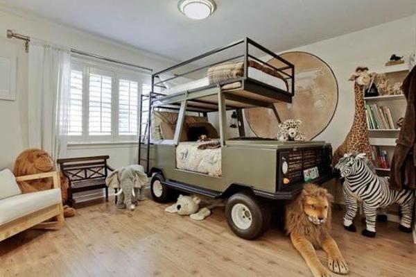 Safari Car Kid Bed Design
