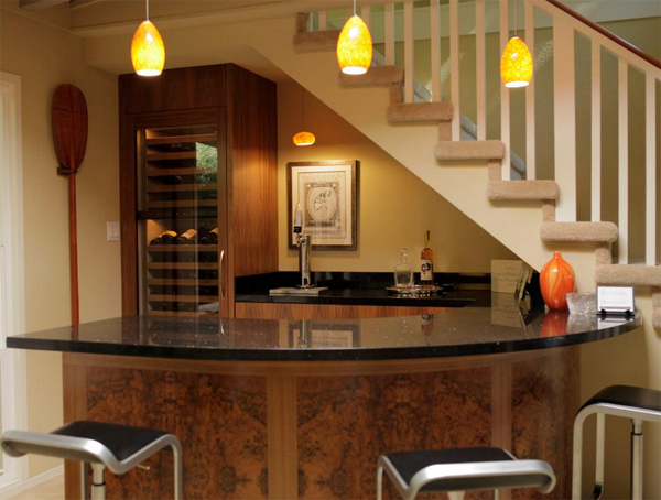 Small-basement-bar-under-stairs