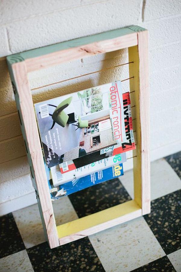 15 Genius DIY Magazine Rack Ideas | HomeMydesign
