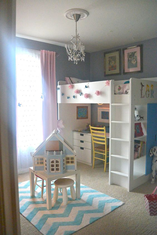 Ikea stuva loft bed with play areas - Ikea bunk bed room ideas ...