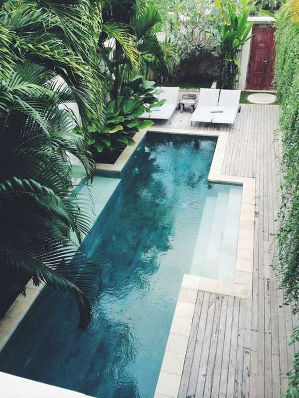 Beautiful Long Pool In Tiny Backyard Homemydesign