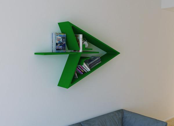 Modern Bookshelf With Superhero Theme