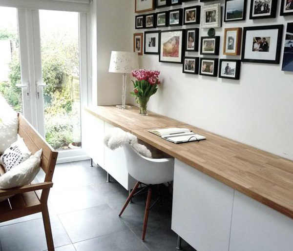 20 Inspiring Home Office Design Ideas For Small Spaces: 35 Tidy And Stylish IKEA Besta Units
