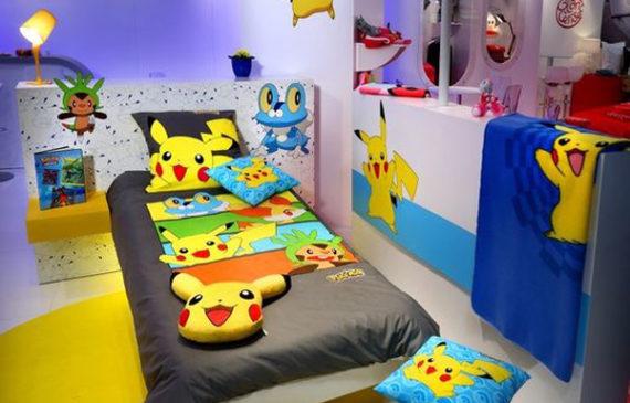 kids-bedroom-with-pokemon-theme