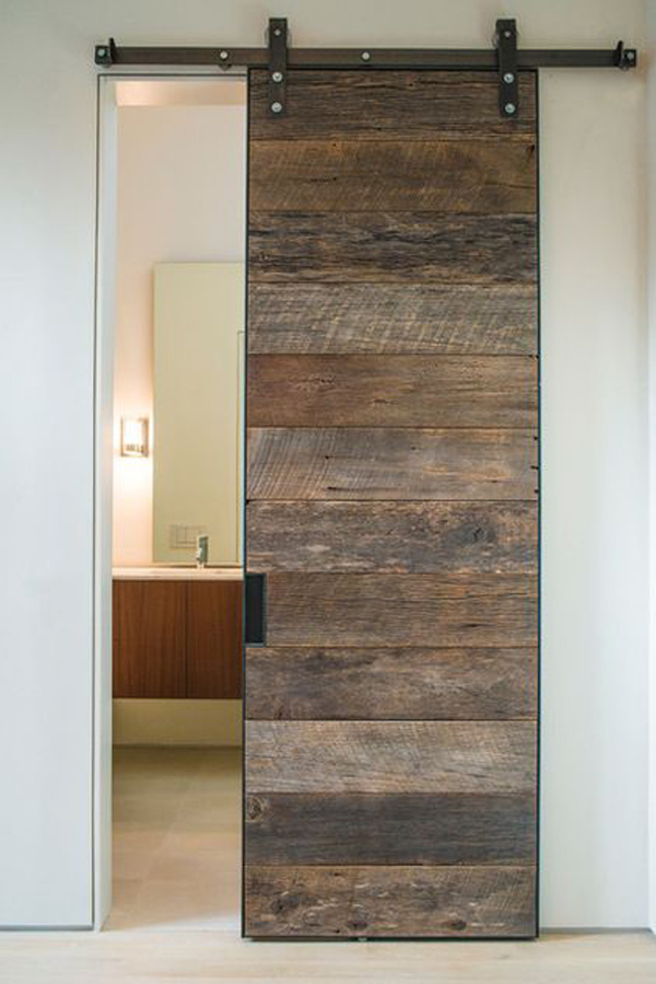20 awesome sliding doors with rustic accent home design for Sliding indoor doors design
