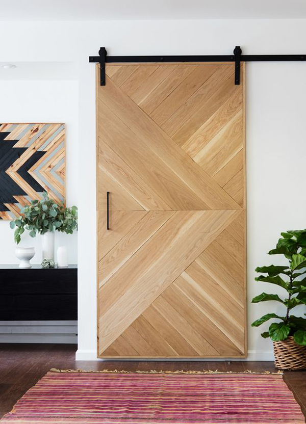 20 awesome sliding doors with rustic accent home design for Door pattern design