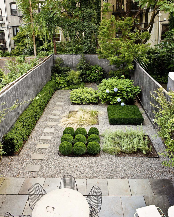 20 lovely backyard ideas with narrow space home design for Modern garden design for small spaces